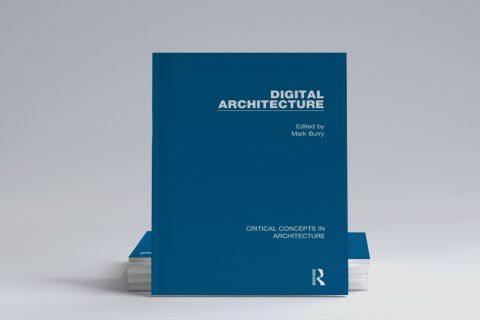 Grafika ilustracyjna. Okładka książki Digital Architecture.