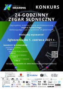 Plakat konkursu na 24 godzinny zegar słoneczny