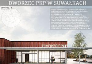 Plansza projektu dworca PKP w Suwałkach