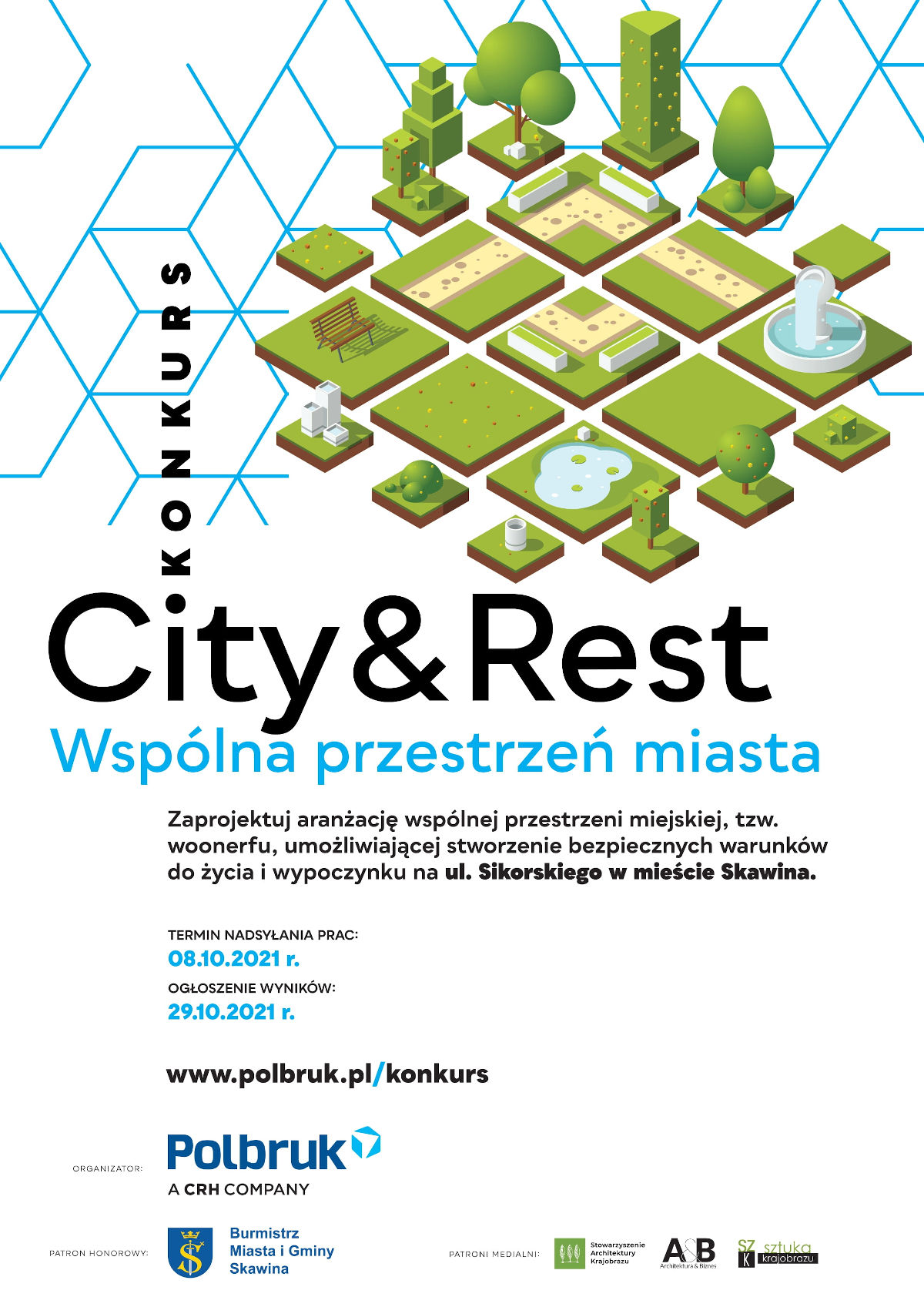 Plakat konkursu City&Rest