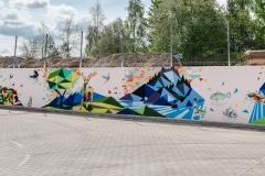 Mural firmy Accolade realizowany przy udziale studentek WA PB